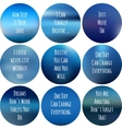 round motivational posters in blue color vector image