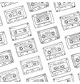 Seamless pattern plastic cassette audio tape