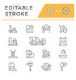 set line icons of concrete vector image vector image