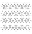 set round line icons of fitness vector image vector image