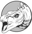 sketch of a cartoon dinosaur in vector image vector image