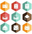 Solid icons envelope vector image vector image