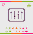 sound mixer console icon vector image vector image