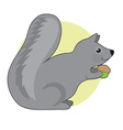 Squirrel and Nut vector image vector image