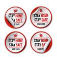 stay at home coronavirus covid-19 quarantine vector image