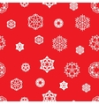 Stock snowflake seamless pattern on a red vector image