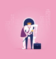 successful businessman is sitting on throne vector image