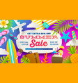 summer sale promotion banner vector image
