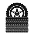 tire leap icon simple style vector image vector image
