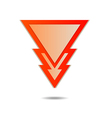 triangle pointer vector image vector image