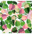 tropical summer leaf seamless pattern art vector image vector image