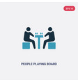 two color people playing board games icon from vector image vector image