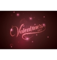 Valentines Day Holiday vector image vector image