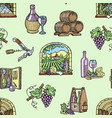 wine production cellar winery viticulture winey vector image vector image