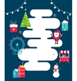 Winter Holidays Town Poster Santa Food Stalls vector image vector image