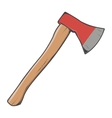 Wooden axe vector image