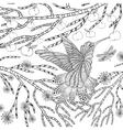 Zentangle stylized tropical bird vector image vector image