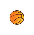 flat sketch basketball ball isolated vector image