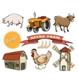 Set of Retro Farm icons vector image