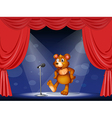 A stage with a bear performing vector | Price: 1 Credit (USD $1)