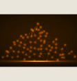 abstract mountain of glowing lines and dots vector image vector image
