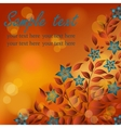 Autumn flowers with red and yellow flare lights vector image vector image
