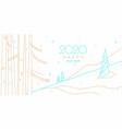 background with inscription happy new year vector image vector image