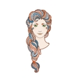 Beautiful girl with intricately patterned vector image vector image