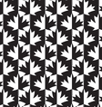 Black and white alternating maple leaves half and vector image vector image
