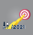 business economic and goal achievement concept vector image vector image