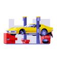car checking service vector image vector image