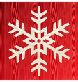 Christmas wooden snowflake greeting card vector image vector image