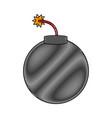 classic round bomb vector image