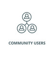 community users line icon community users vector image vector image