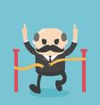 concept cartoon big boss businessman who runs to vector image