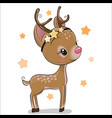 cute christmas deer isolated on a white background vector image