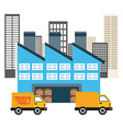 delivery service vector image vector image
