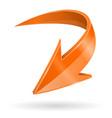 down arrow 3d shiny orange web icon