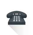 flat style retro black landline buttons phone icon vector image