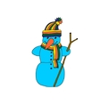 fun snowman isolated vector image vector image