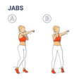 girl doing jabs exercise fitness home workout vector image