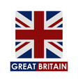 great britain flag vector image vector image