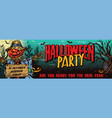 halloween party colorful horizontal banner vector image vector image