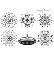 Hand Drawn Diwali Designs vector image vector image