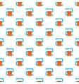 Heated towel rail pattern cartoon style vector image vector image