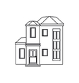 house urban expensive outline vector image