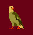 in flat style eagle vector image