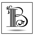 Letter B made with leaves vector image