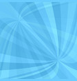 light blue curved ray burst background - design vector image vector image