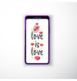love is love smartphone flat style as a template vector image vector image